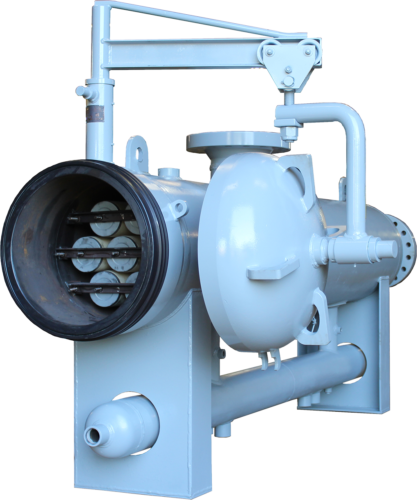 natural gas filter separator with cover open