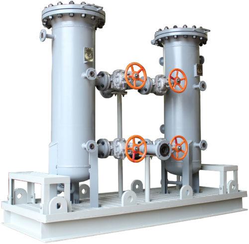 Duplex Industrial Liquid Filters - liquid process filtration