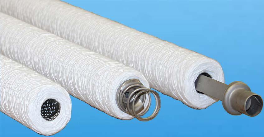 Wound filter cartridges