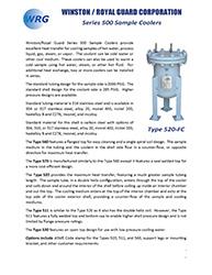 Series 500 Sample Cooler brochure
