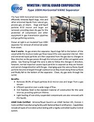 Type 100H Vane Separator brochure