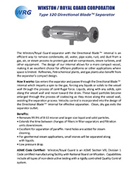 Type 120 Centrifugal Separators brochure