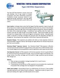 Type 150 Filter-Separator brochure