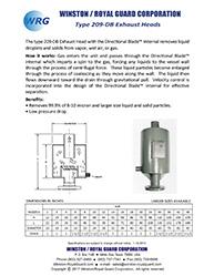 Type 209-DB Exhaust Head brochure