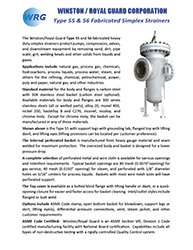 Type 55 Simplex Strainer brochure