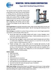 Type 61V Liquid Filter brochure