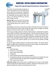 Type 62-CC Liquid-Liquid Coalescer brochure