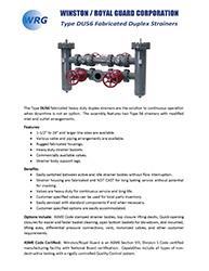Type DU56 Duplex Strainer brochure