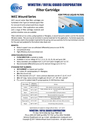 WCC Series wound filter cartridge for Type 61V brochure