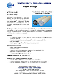 WCL536 (0.3) Filter Cartridge for Type 150 Filter-Separator & Type 65 Dry Gas Filter brochure