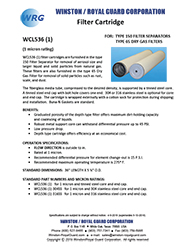 WCL536 (1) Filter Cartridge for Type 150 Filter-Separator & Type 65 Dry Gas Filter brochure