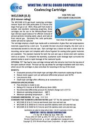 WCL536R (0.3) Coalescing Cartridge for Type 140 Gas-Liquid Coalescer