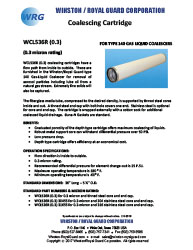 WCL536R (0.3) Coalescing Cartridge for Type 140 brochure