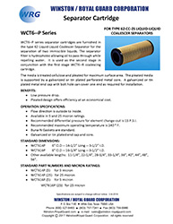 WCT6-P Separator Cartridge for Type 62 Liquid-Liquid Coalescer brochure