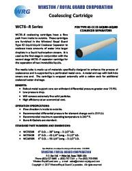 WCT6--R Coalescing Cartridge for Type 62 Liquid-Liquid Coalescer brochure