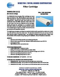 WMGL536 Series Filter Cartridge for type 150 Filter Separator brochure thumbnail