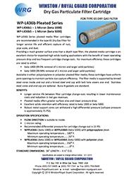 WP-L436b Series Pleated Beta 1000 Filter Cartridge & Beta 5000 Filter Cartridge for Type 65 Dry Gas Filter brochure