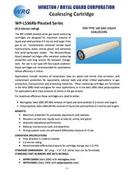 beta 1000 and 5000 gas liquid coalescing cartridge